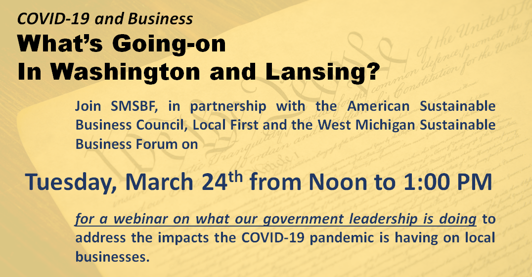 Webinar: COVID-19 and Business: What's Going-on in Washington and Lansing?