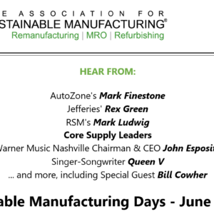 Sustainable Manufacturing On-Line Event